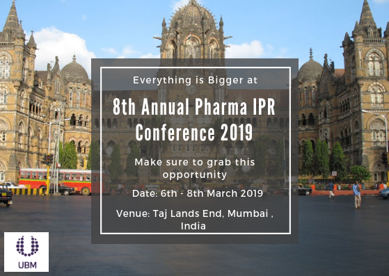 8th Annual Pharma IPR Conference 2019 | Pharmaceuticals